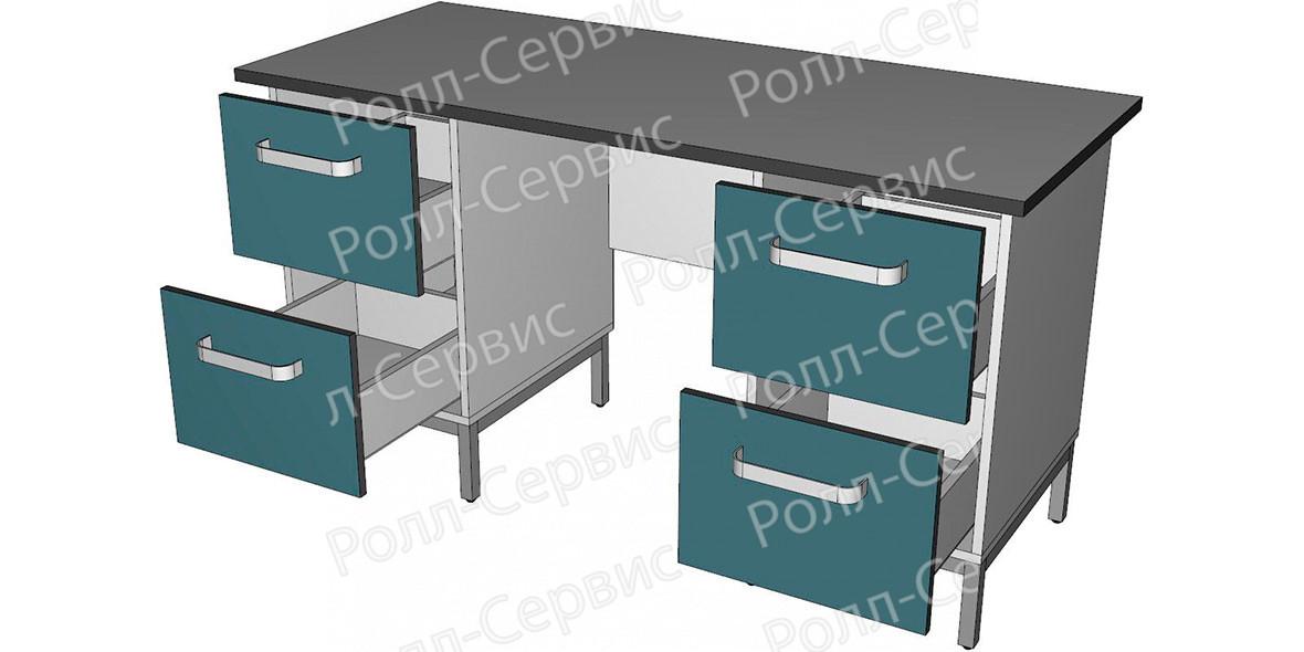 Стол лабораторный двухтумбовый 5, фото 2
