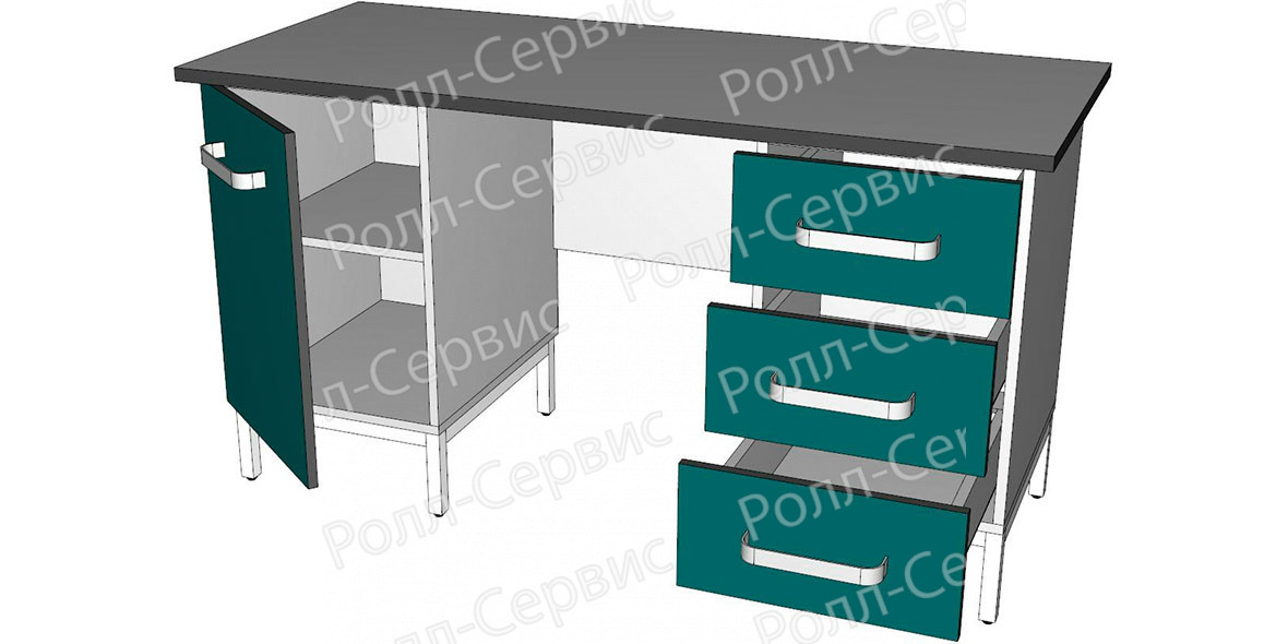 Стол лабораторный двухтумбовый 6, фото 2