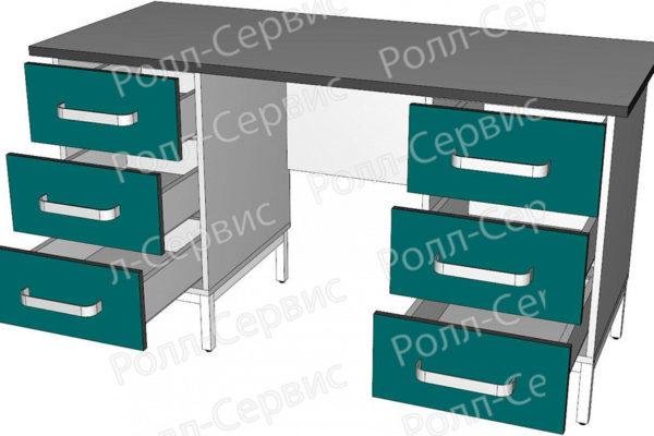 Стол лабораторный двухтумбовый 7, фото 2