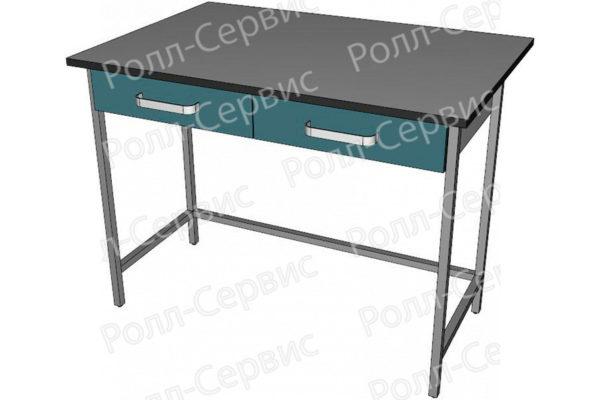 Стол высокий с ящиками под столешницей, фото 3