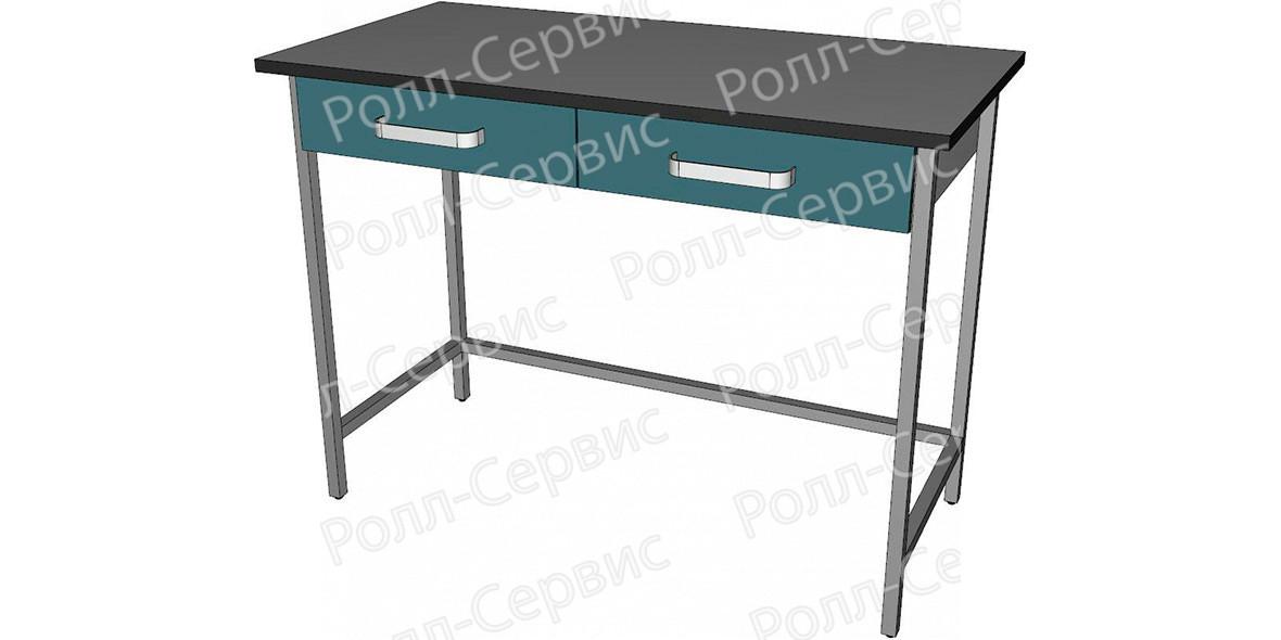 Стол высокий с ящиками под столешницей, фото 1