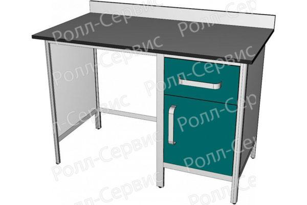 Стол лабораторный однотумбовый №2 серия ALUM, фото 2
