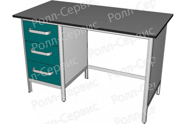 Стол лабораторный однотумбовый №2 серия ALUM, фото 3