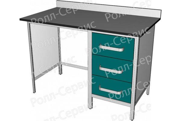 Стол лабораторный однотумбовый №2 серия ALUM, фото 1