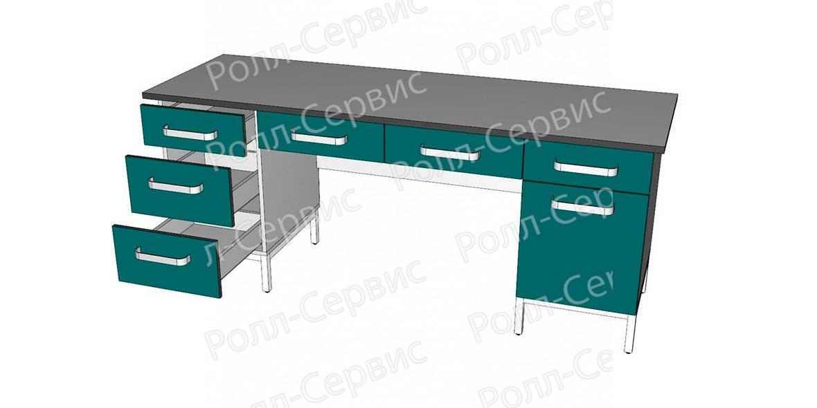 Стол лабораторный двухтумбовый 10, фото 2