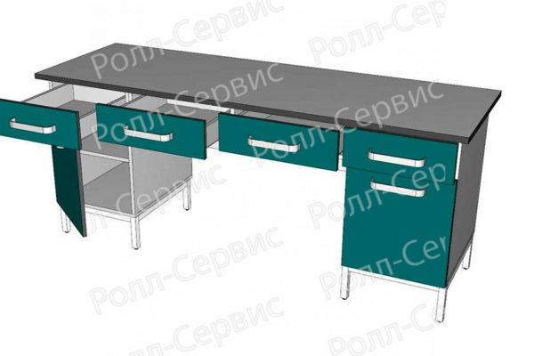 Стол лабораторный двухтумбовый 9, фото 2