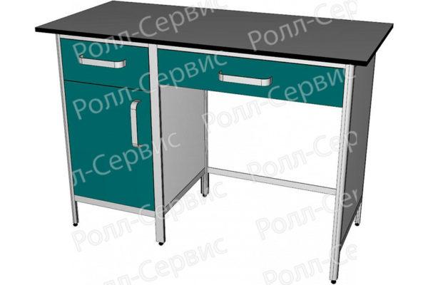 Стол лабораторный однотумбовый №3 серия ALUM, фото 2