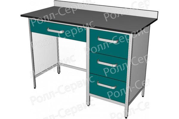 Стол лабораторный однотумбовый №3 серия ALUM, фото 3