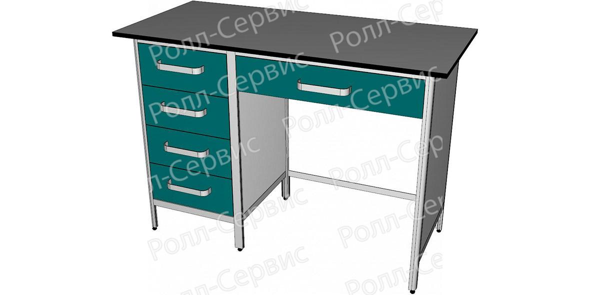 Стол лабораторный однотумбовый №3 серия ALUM, фото 1