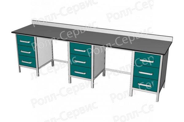 Стол лабораторный трехтумбовый №5 серия ALUM, фото 3