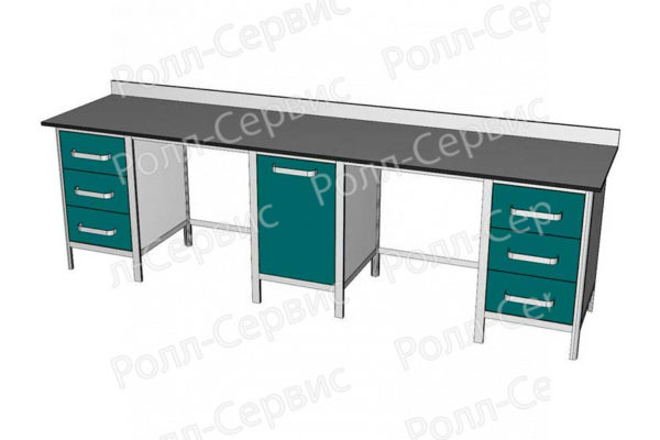 Стол лабораторный трехтумбовый №5 серия ALUM, фото 4