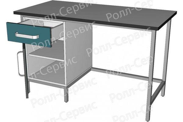 Стол лабораторный однотумбовый с ящиком, фото 2