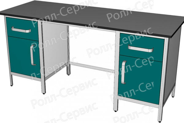 Стол лабораторный двухтумбовый №4 серия ALUM, фото 2