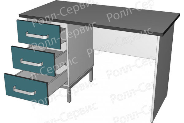 Стол лабораторный однотумбовый 4, фото 2