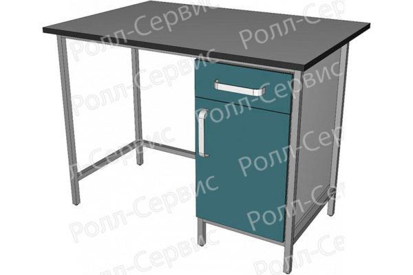 Стол лабораторный однотумбовый с ящиком, фото 3