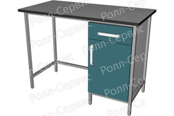 Стол лабораторный однотумбовый с ящиком, фото 1