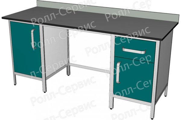 Стол лабораторный двухтумбовый №4 серия ALUM, фото 1