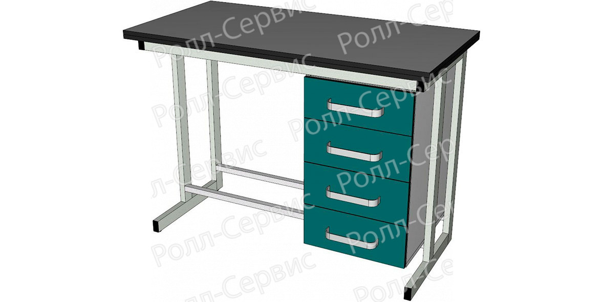 Стол лабораторный однотумбовый 2, фото 1