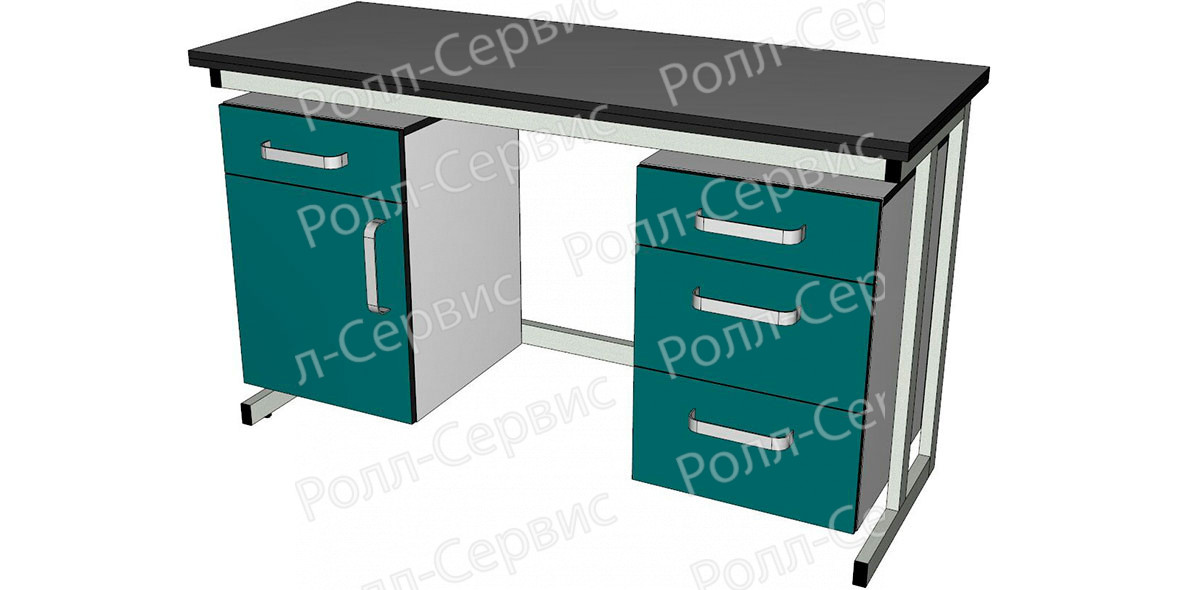 Стол лабораторный двухтумбовый1, фото 2