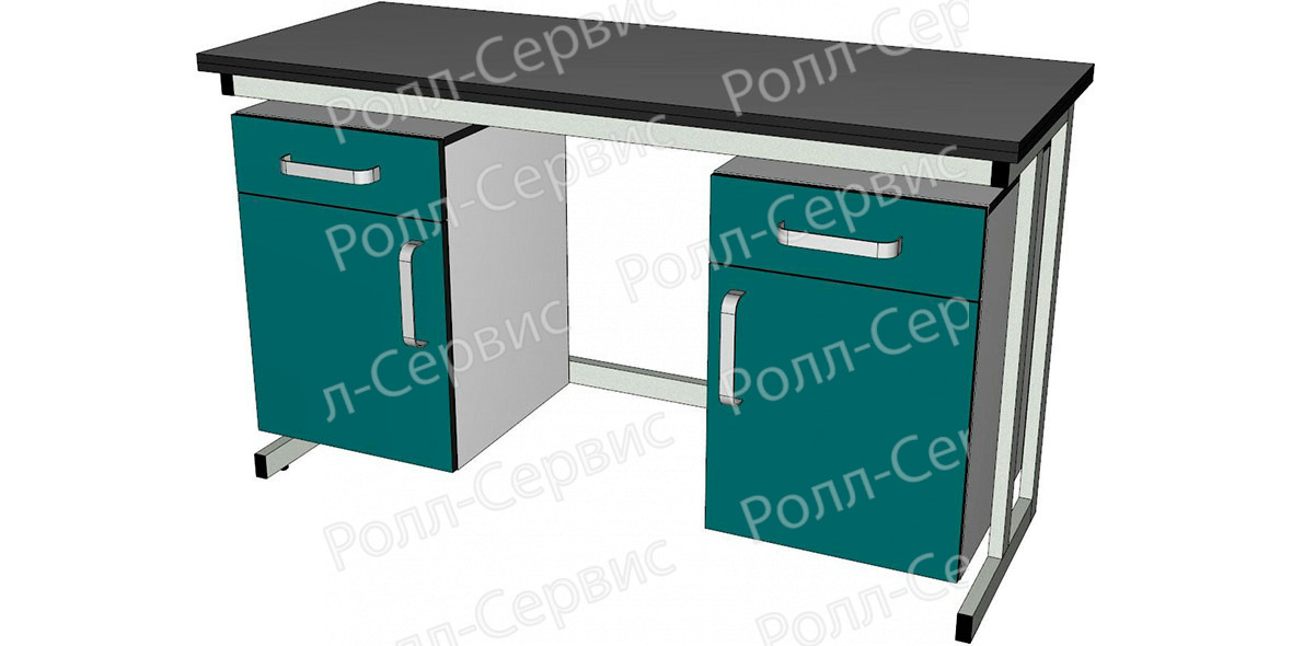 Стол лабораторный двухтумбовый1, фото 1