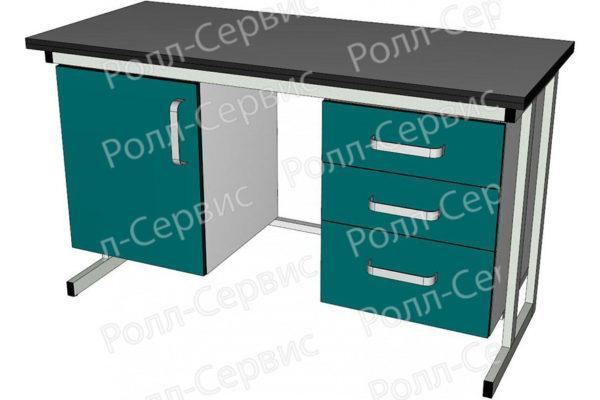 Стол лабораторный двухтумбовый 2, фото 1