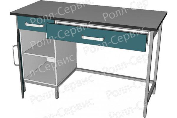 Стол лабораторный с ящиком под столешницей, фото 2