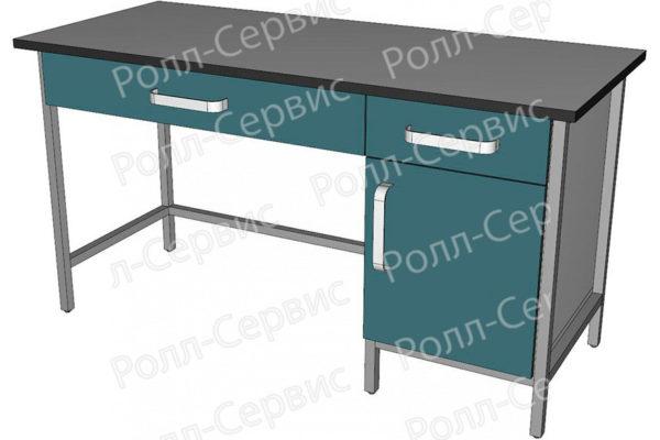 Стол лабораторный с ящиком под столешницей, фото 1