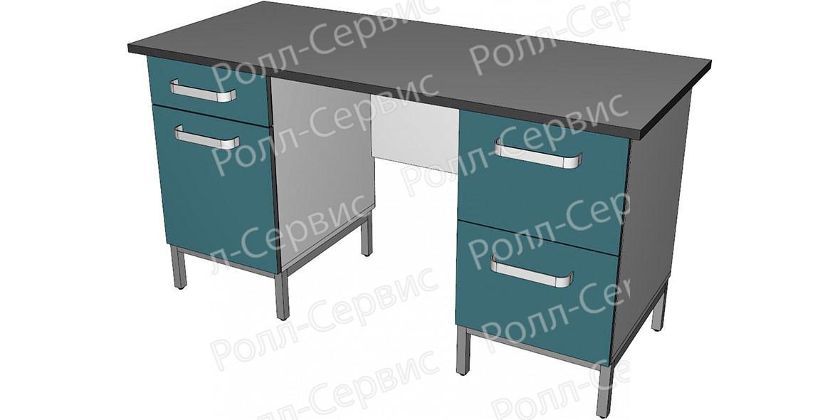 Стол лабораторный двухтумбовый 4, фото 1