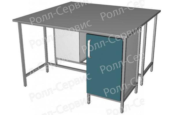 Стол лабораторный STANDART островной на металлокаркасе 2, фото