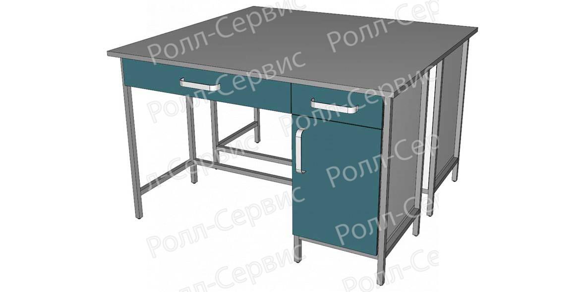 Стол лабораторный STANDART островной на металлокаркасе 3, фото