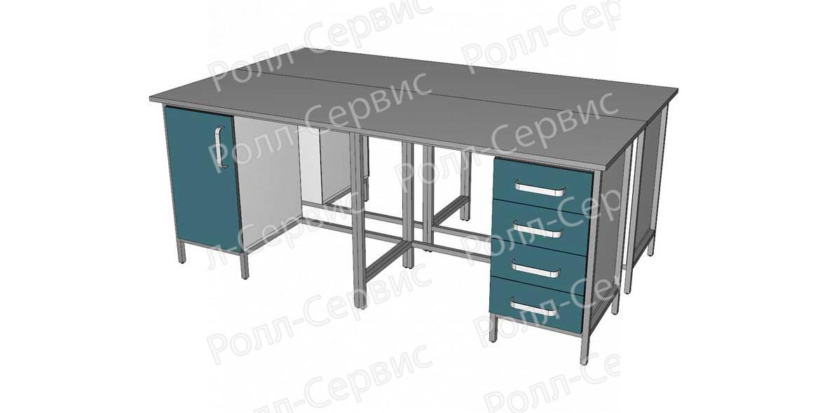 Стол лабораторный STANDART островной на металлокаркасе 9, фото