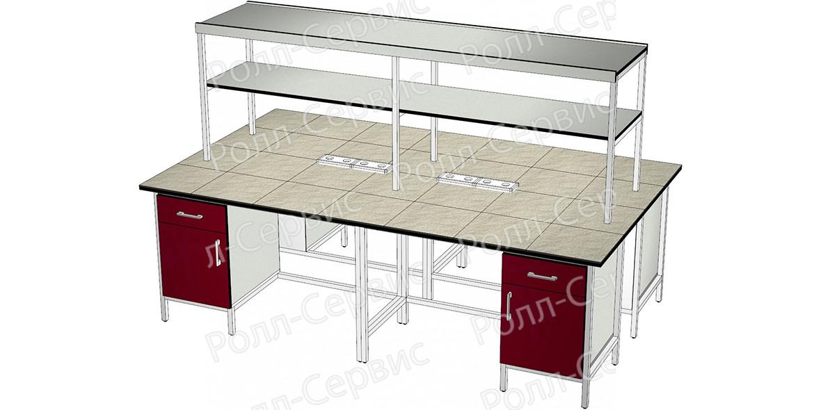 Стол лабораторный STANDART островной на металлокаркасе 12, фото
