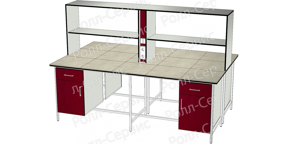 Стол лабораторный STANDART островной на металлокаркасе 15, фото