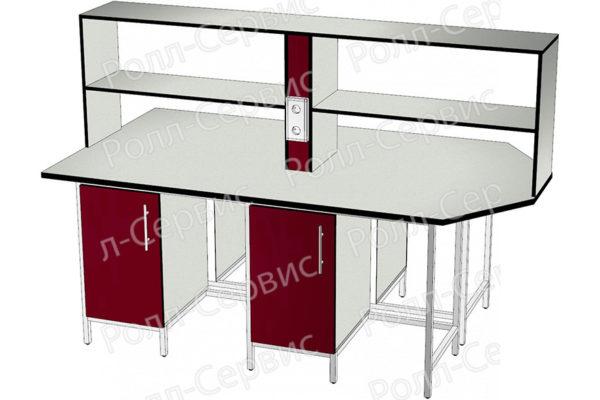Стол лабораторный STANDART островной на металлокаркасе 16, фото