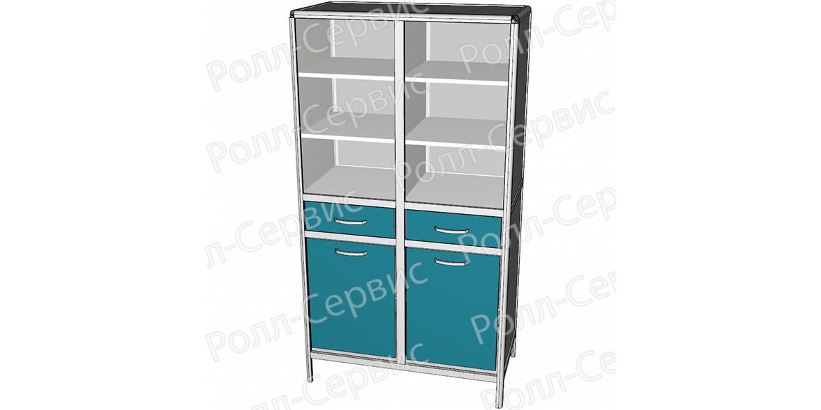 Шкаф лабораторный комбинированный серии ALUM, фото
